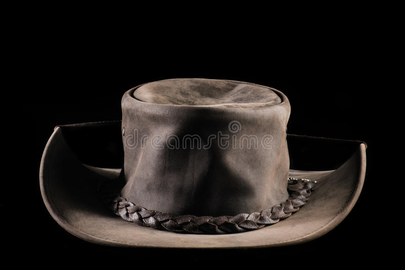 Chapéu de couro foto de stock