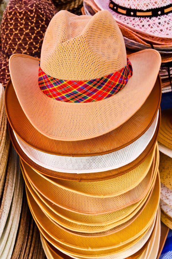 Chapéu de cowboy colorido para o sell fotografia de stock royalty free