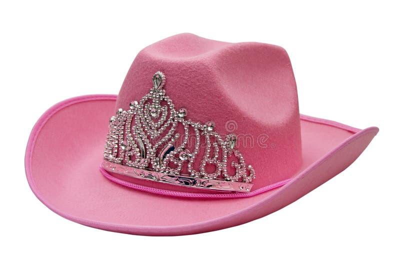 Chapéu de cowboy cor-de-rosa fotografia de stock