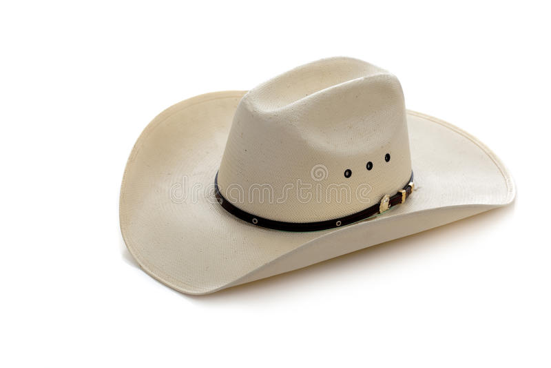 Chapéu de cowboy no branco imagem de stock
