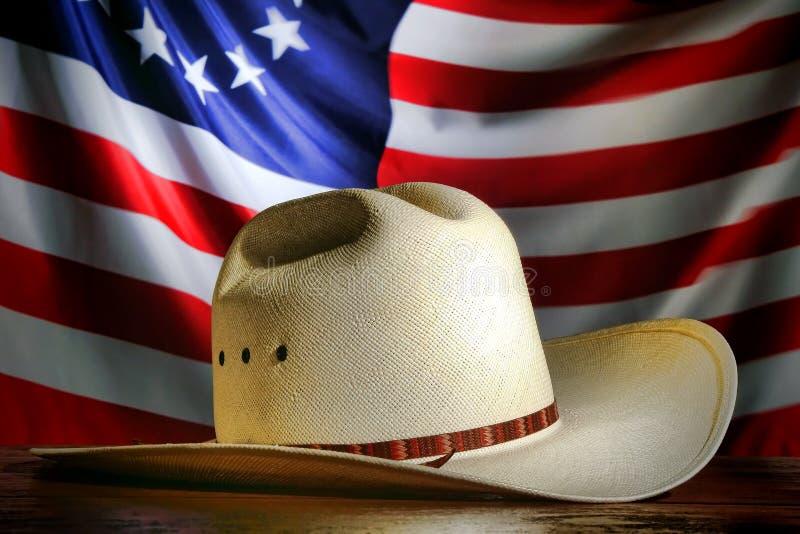 Chapéu de cowboy ocidental americano do rodeio foto de stock