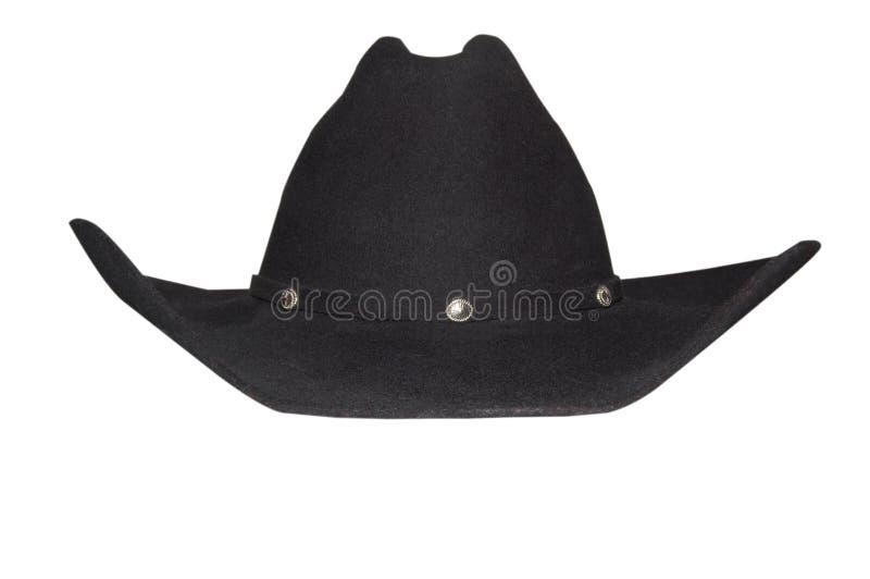 Chapéu de cowboy preto imagem de stock