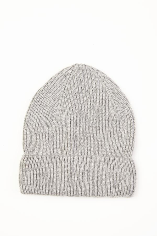 Chapéu de lã cinzento imagem de stock royalty free