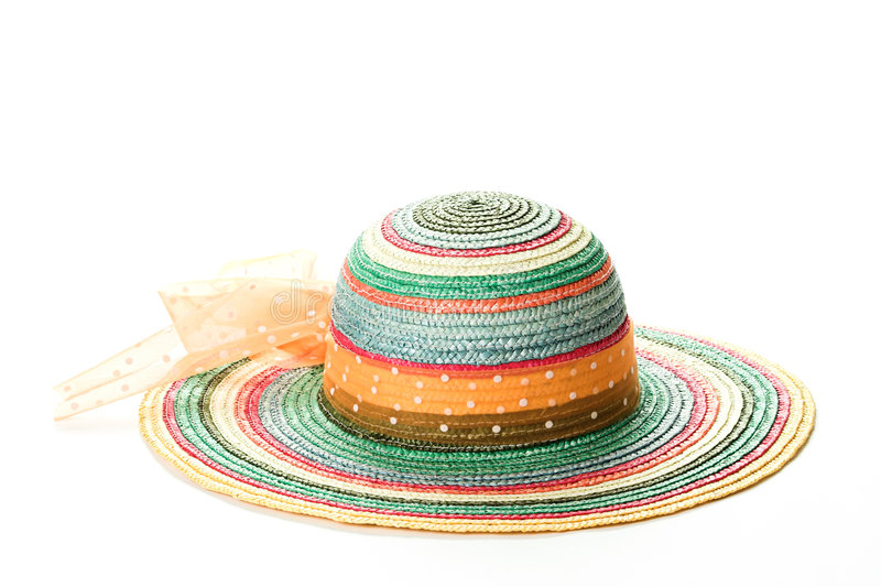 Chapéu de palha colorido # 2 foto de stock royalty free