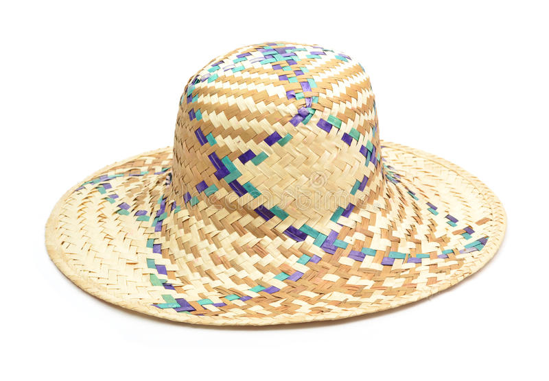 Chapéu de palha de vime foto de stock