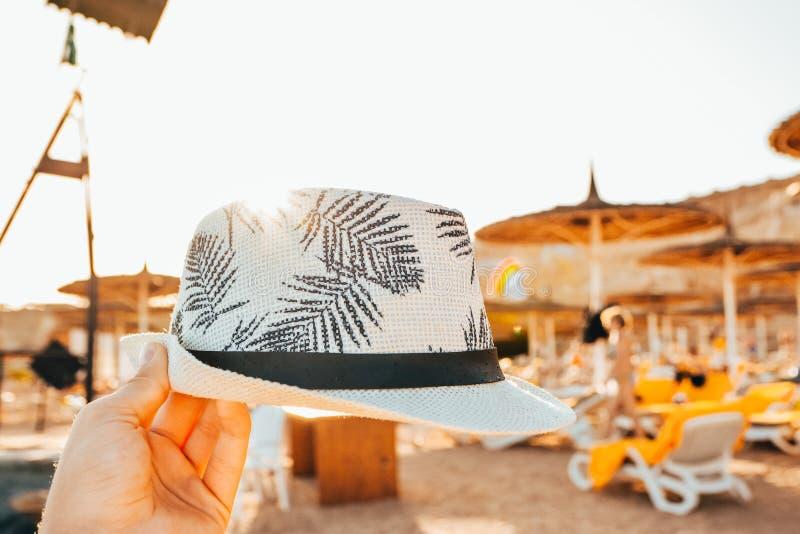 Chapéu de Panamá do homem fotos de stock royalty free