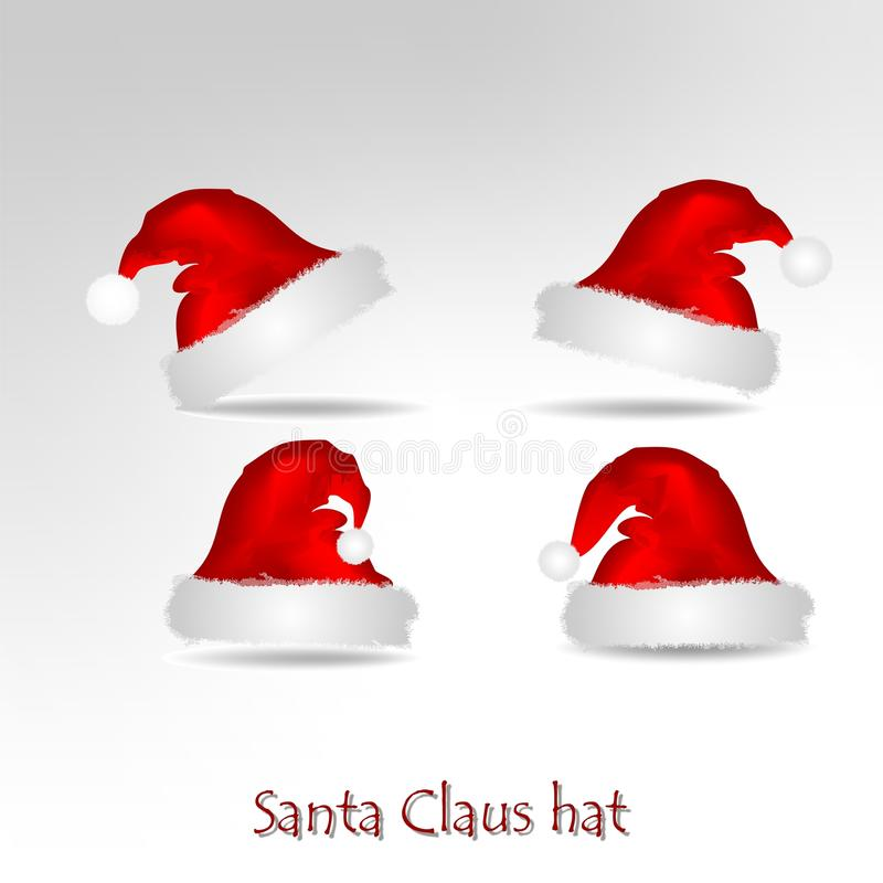 Chapéu de Papai Noel ilustração do vetor