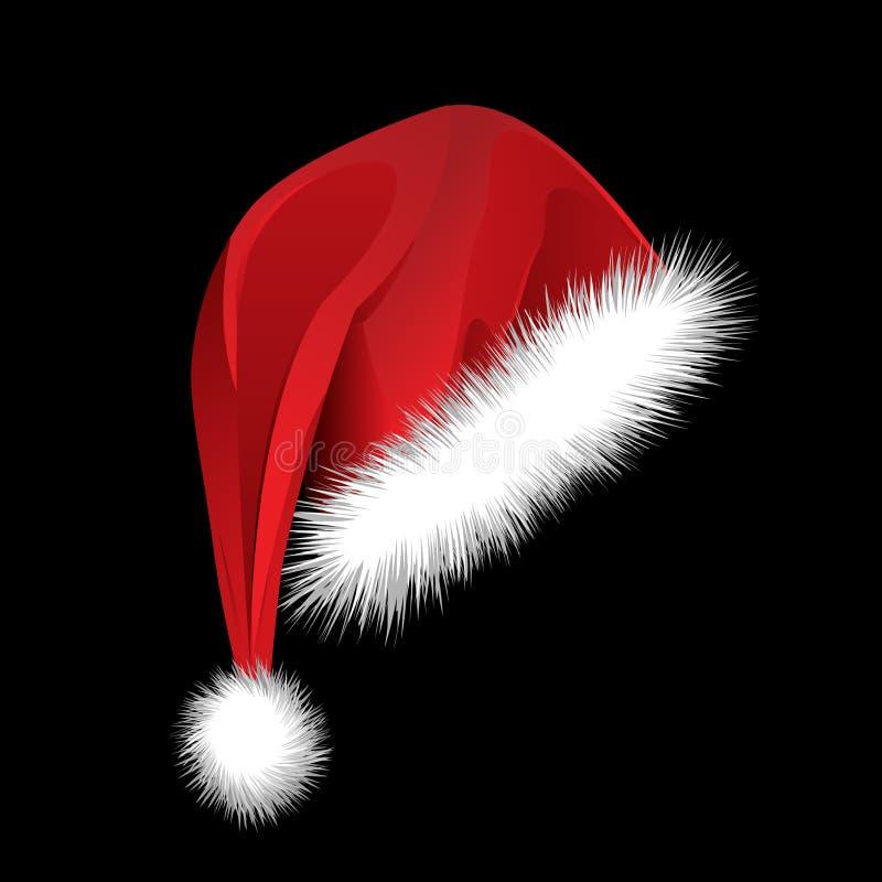 Chapéu de Santa ilustração do vetor