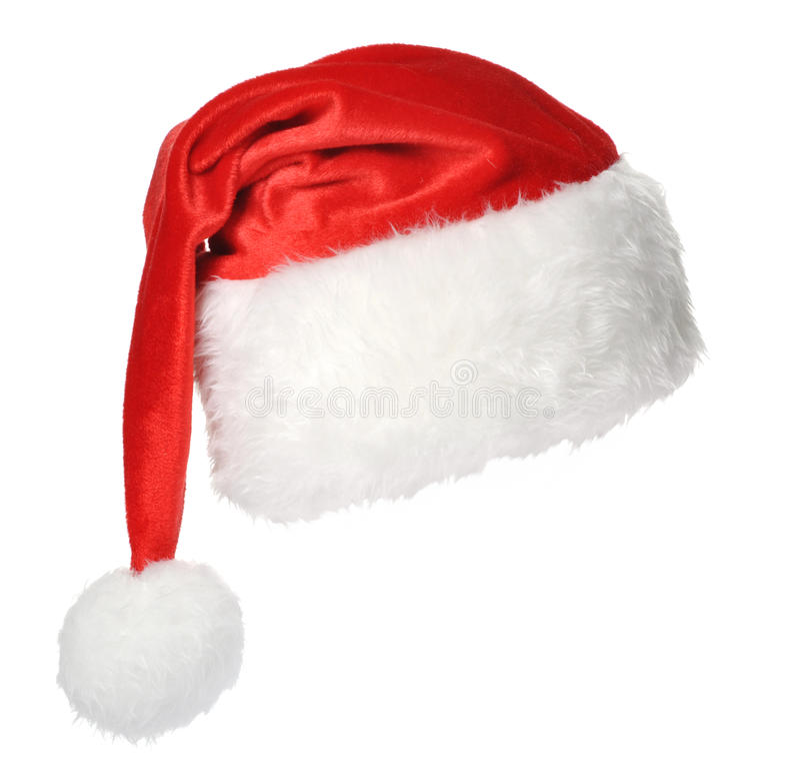 Chapéu de Santa Claus imagens de stock royalty free