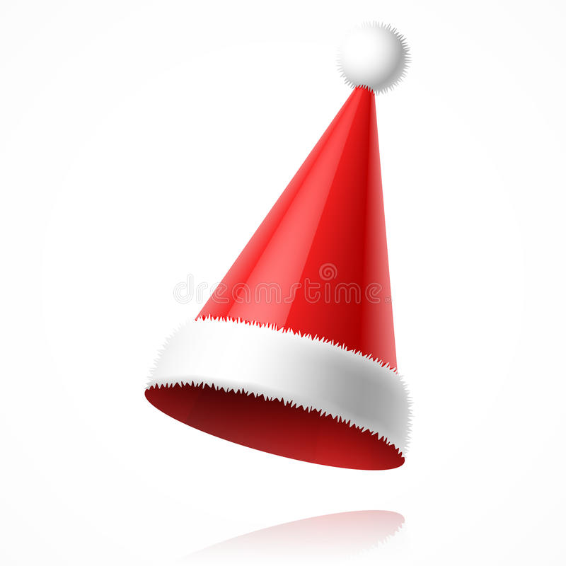 Chapéu de Santa Claus ilustração do vetor
