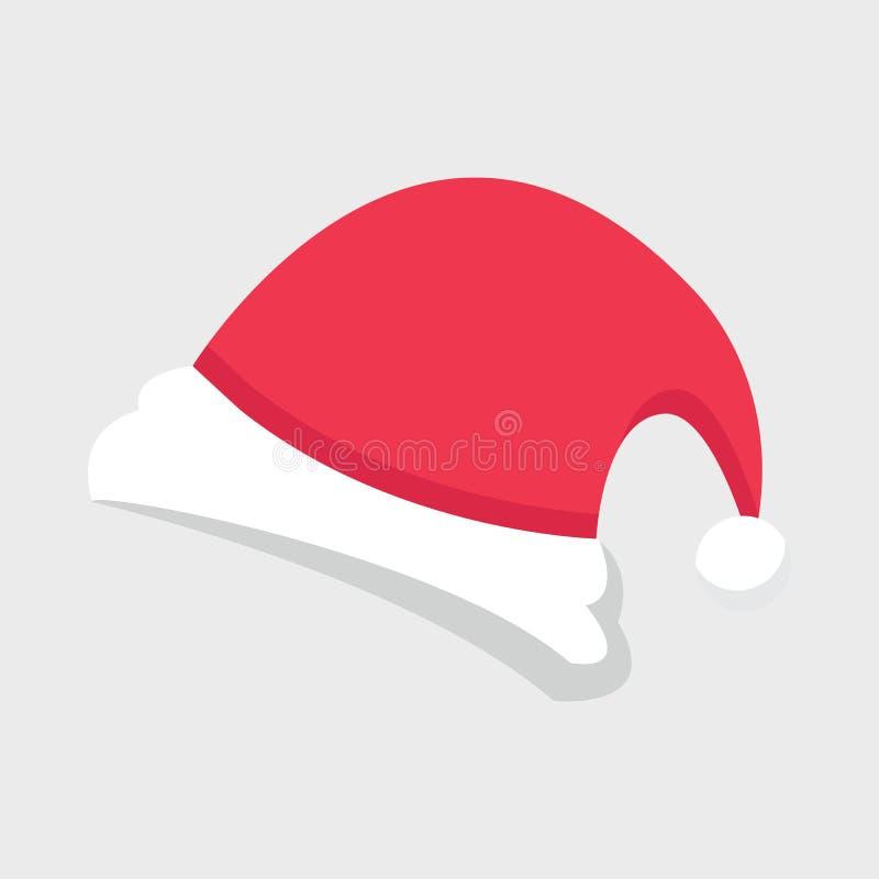 Chapéu de Santa do Natal ilustração do vetor