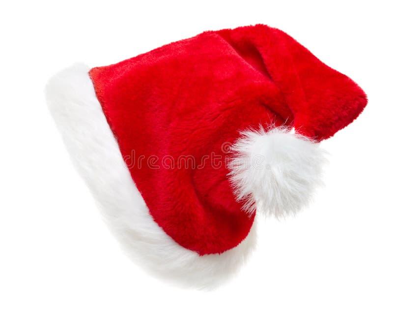Chapéu de Santa isolado imagem de stock royalty free