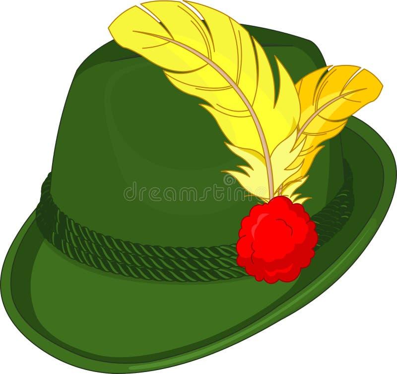 Chapéu de Tirol ilustração royalty free