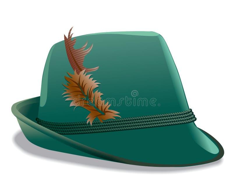 Chapéu de Tirol ilustração stock