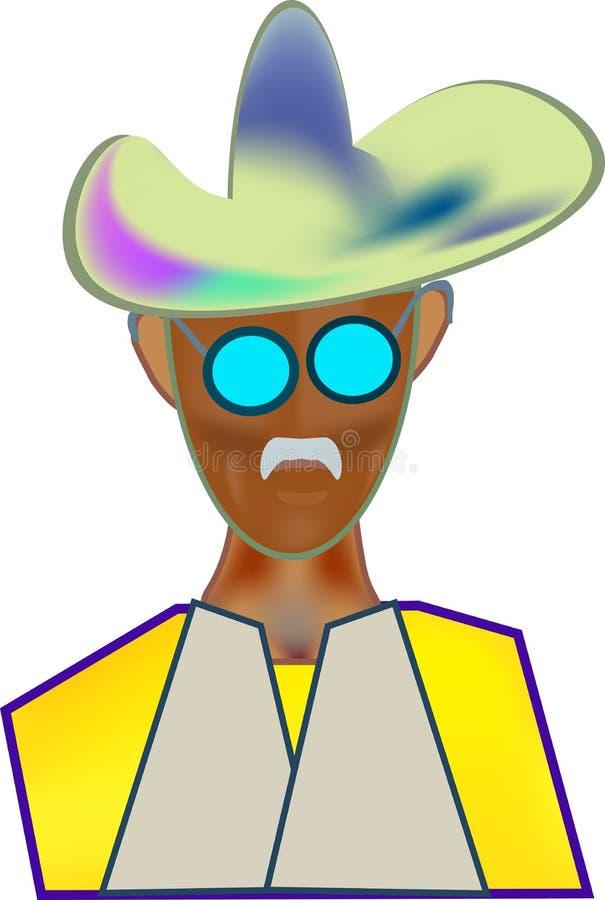 Chapéu de vaqueiro da imagem da cor do ícone fotos de stock
