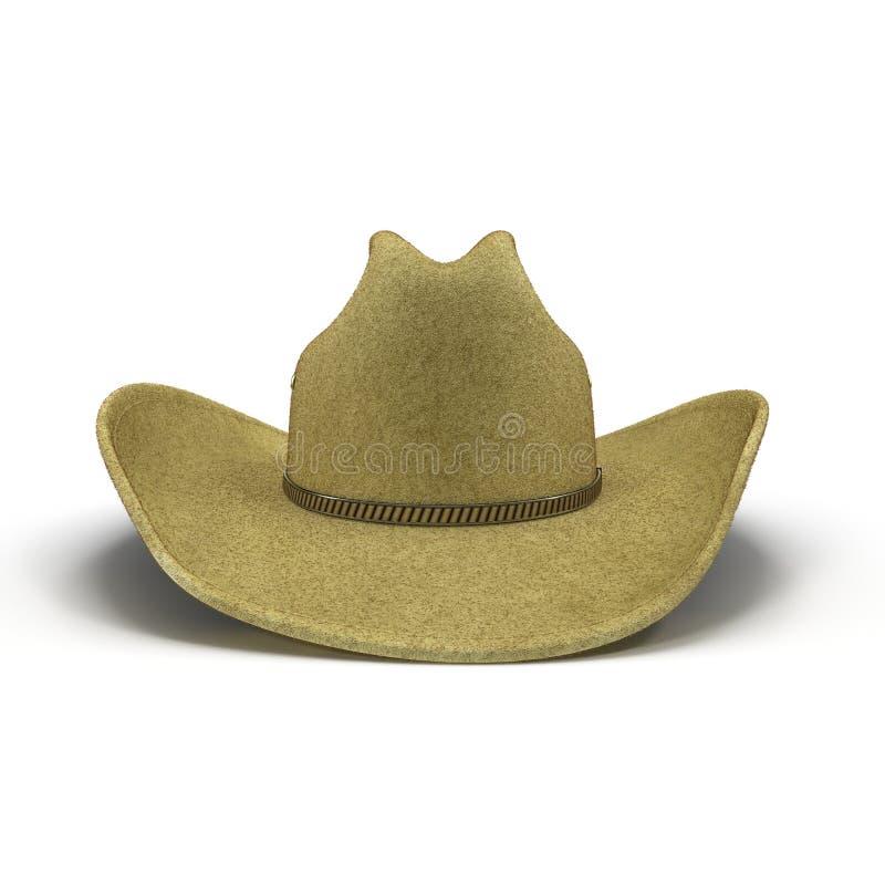 Chapéu de vaqueiro isolado no fundo branco fotos de stock royalty free