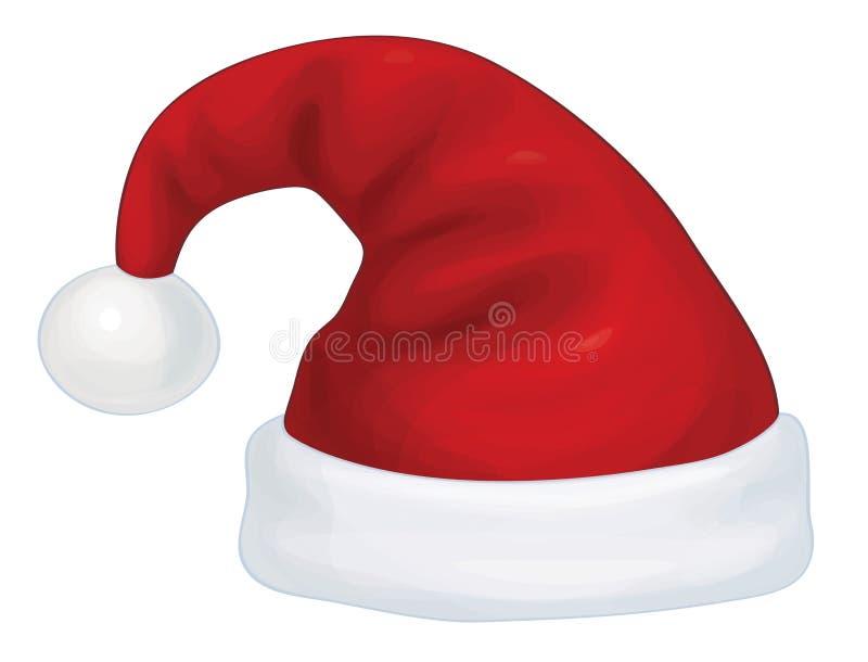 Chapéu de Vecto Santa Claus ilustração stock