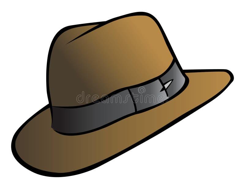 Chapéu do aventureiro ilustração royalty free