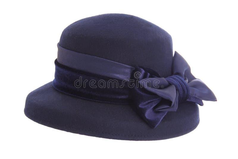 Chapéu do azul das senhoras foto de stock royalty free