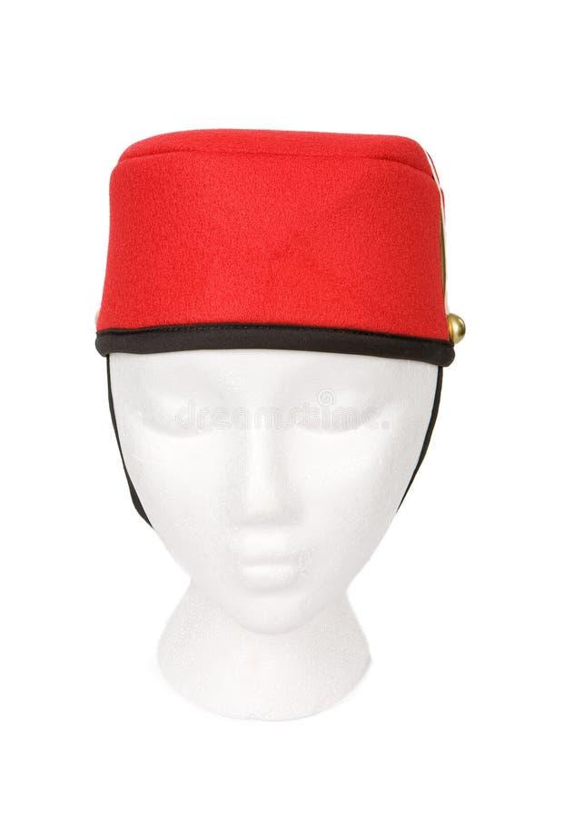 Chapéu do Bellhop isolado com um trajeto de grampeamento imagem de stock royalty free