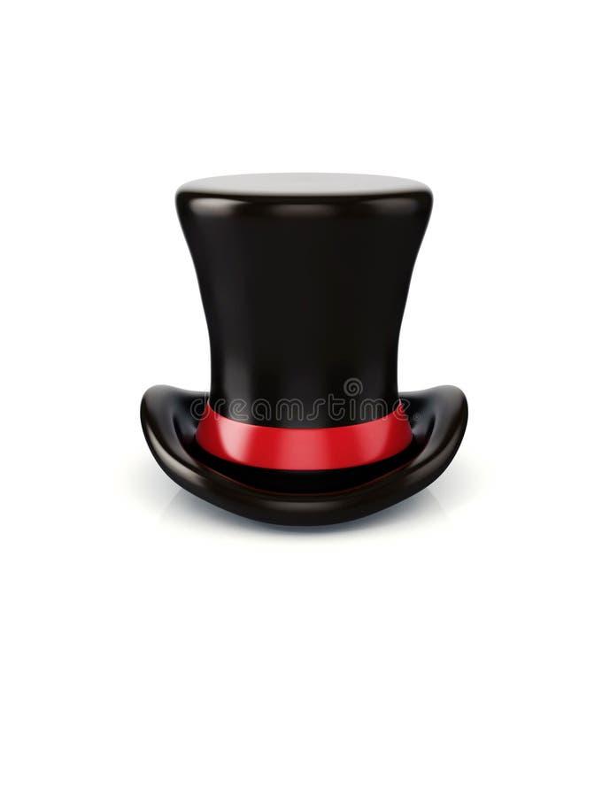chapéu do cilindro 3d no fundo branco fotografia de stock