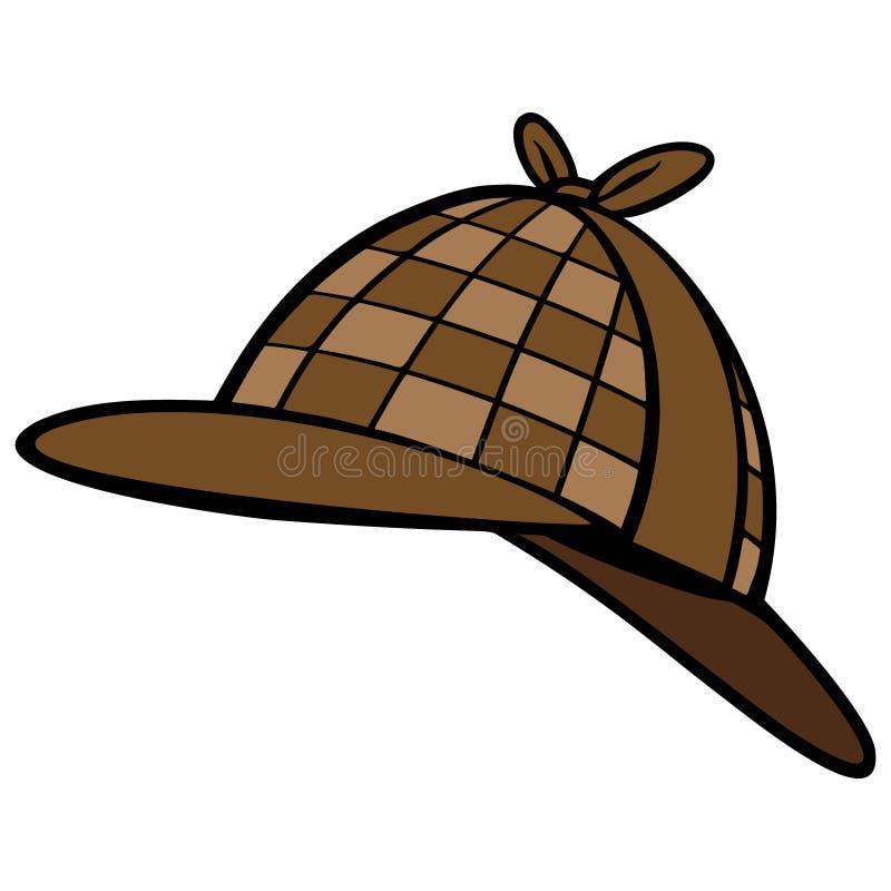 Chapéu do detetive ilustração stock