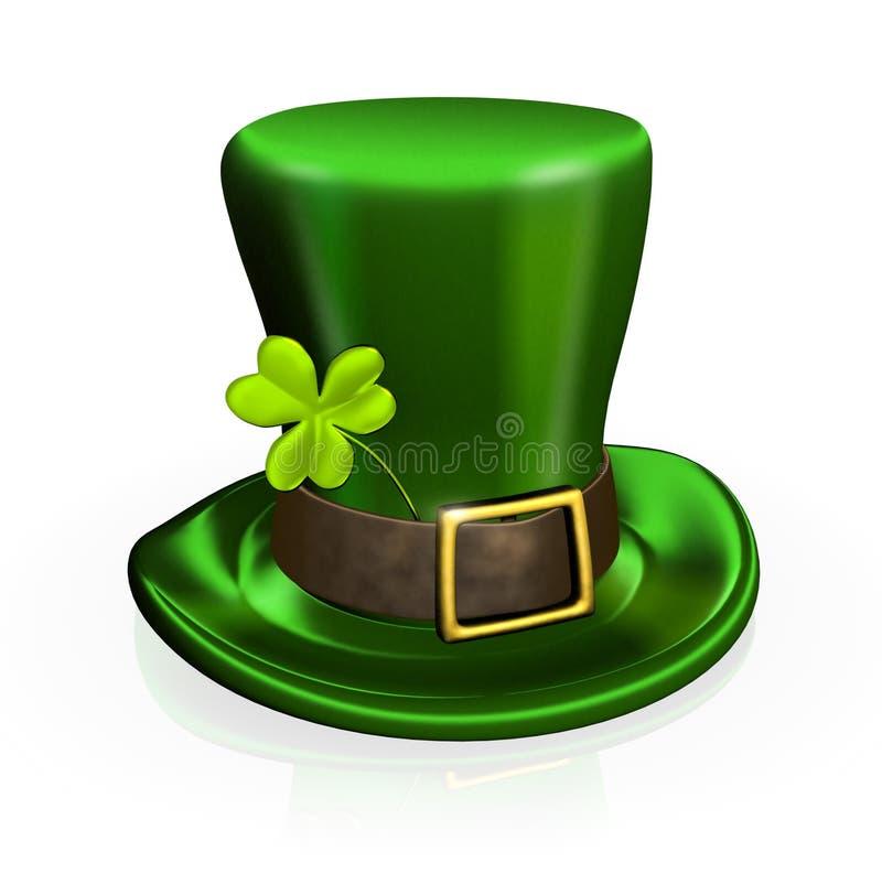Chapéu do dia de St Patrick com trevo ilustração stock