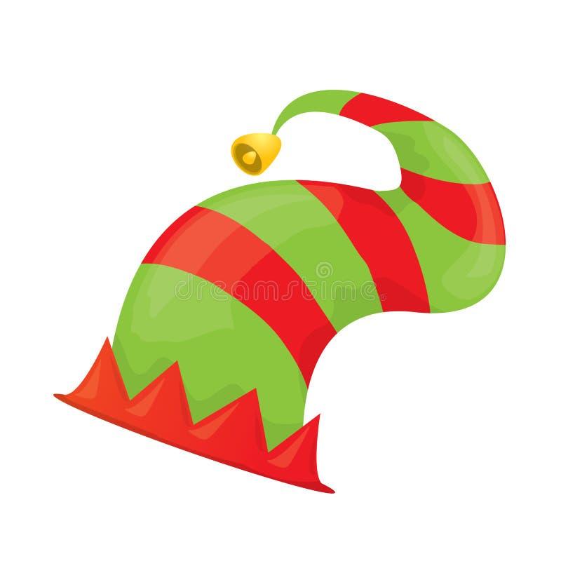 Chapéu do duende do Natal Ilustração do vetor ilustração stock