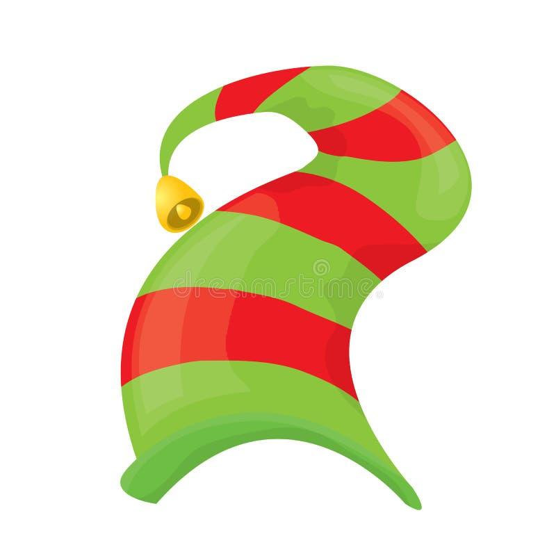 Chapéu do duende do Natal Ilustração do vetor ilustração do vetor