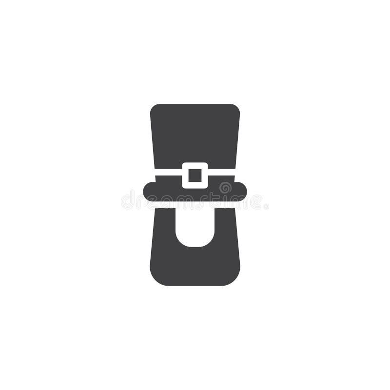 Chapéu do duende e ícone do vetor da barba ilustração do vetor