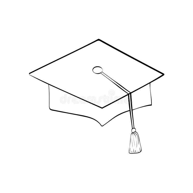 Chapéu do estudante da graduação ilustração stock