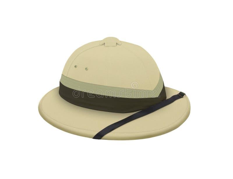 Chapéu do explorador para o destino tropical. ilustração do vetor