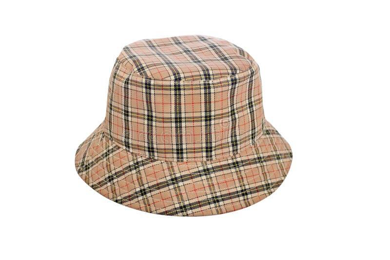 Chapéu do inverno com quadrados foto de stock