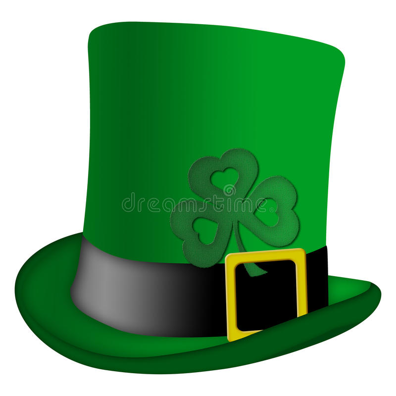 Chapéu do Irish do Leprechaun do dia do St Patricks ilustração stock