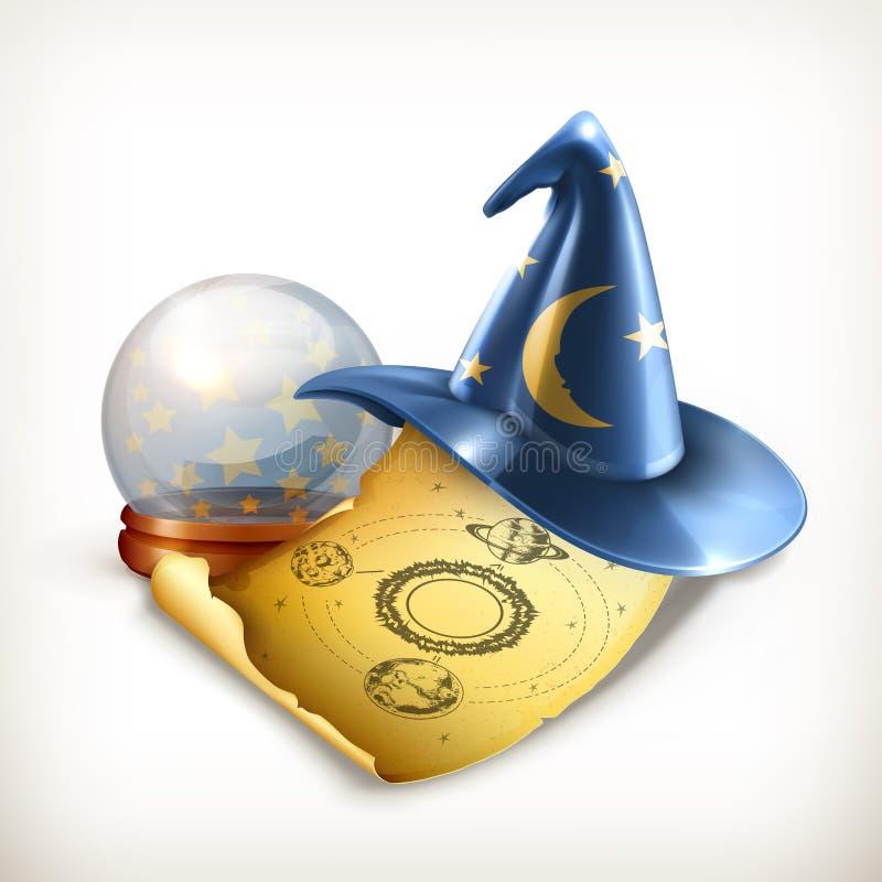 Chapéu do mágico, ilustração do vetor ilustração stock