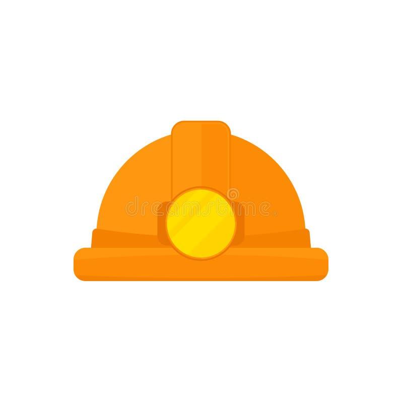 Chapéu do mineiro de carvão ilustração royalty free
