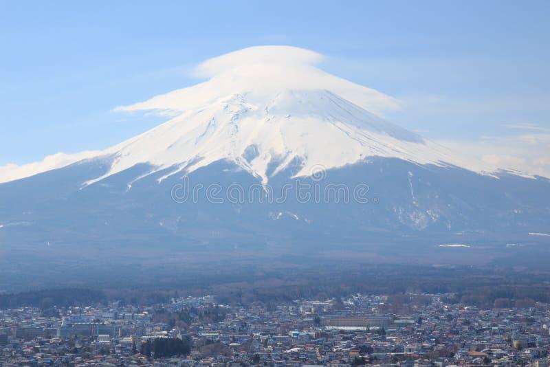 Chapéu do Mt fuji fotografia de stock