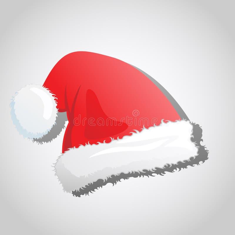 Chapéu do Natal de Santa ilustração do vetor