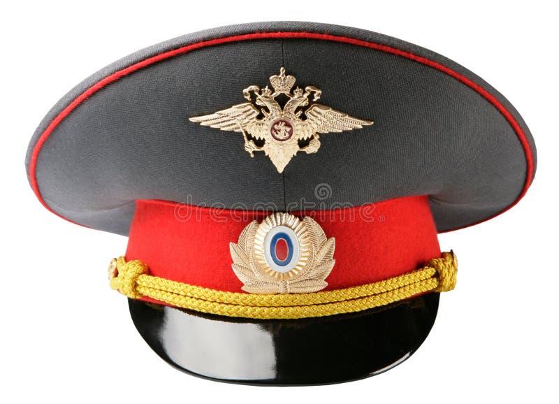 Chapéu do oficial de polícia do russo fotos de stock royalty free