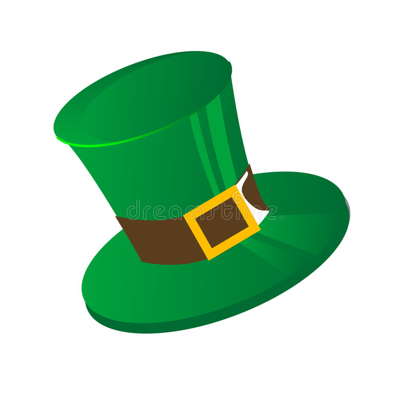 Chapéu do St Patrick ilustração stock