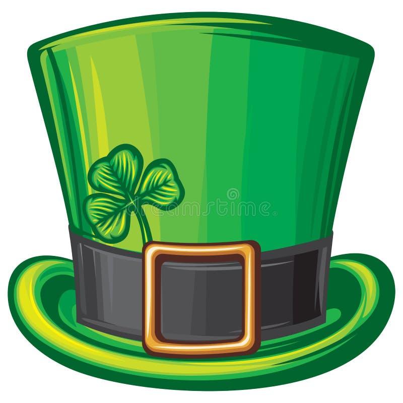 Chapéu do verde de St Patrick ilustração royalty free