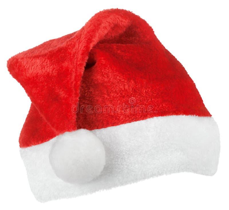 Chapéu do vermelho de Santa Claus fotos de stock royalty free