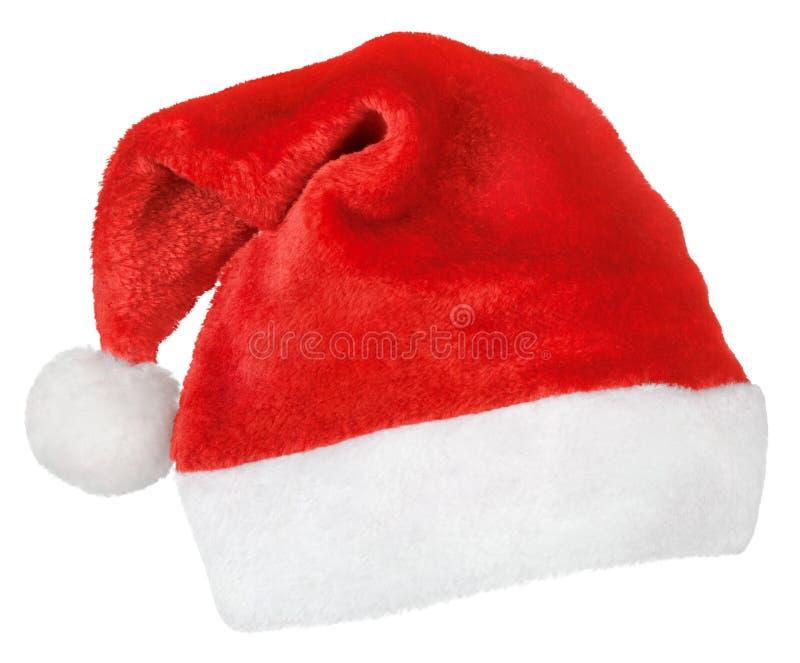 Chapéu do vermelho de Santa Claus fotografia de stock