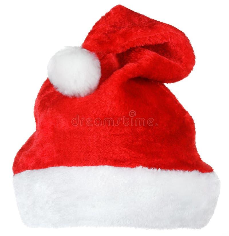 Chapéu do vermelho de Santa Claus imagens de stock royalty free