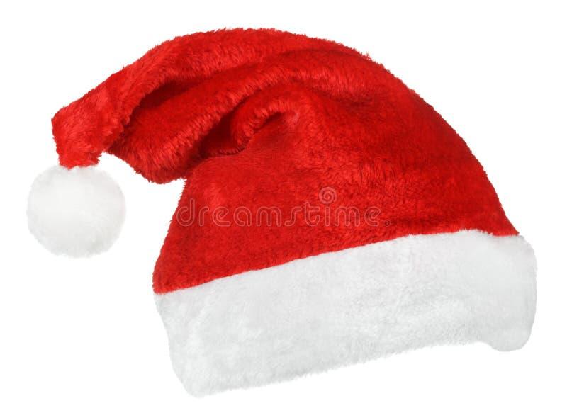 Chapéu do vermelho de Santa Claus foto de stock