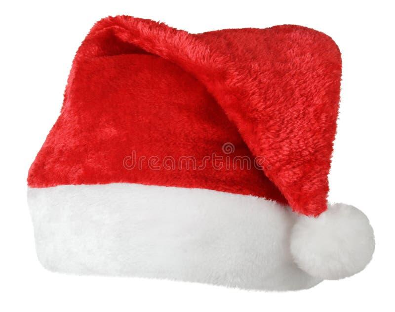 Chapéu do vermelho de Santa Claus imagens de stock