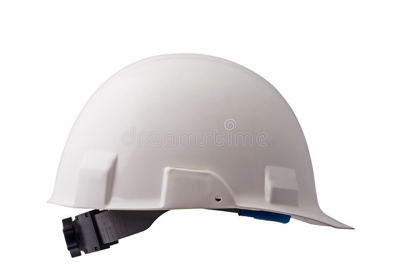Chapéu duro branco fotografia de stock royalty free