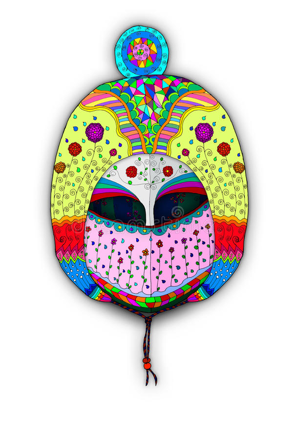 Chapéu e máscara principais da ilustração da armadura ilustração stock
