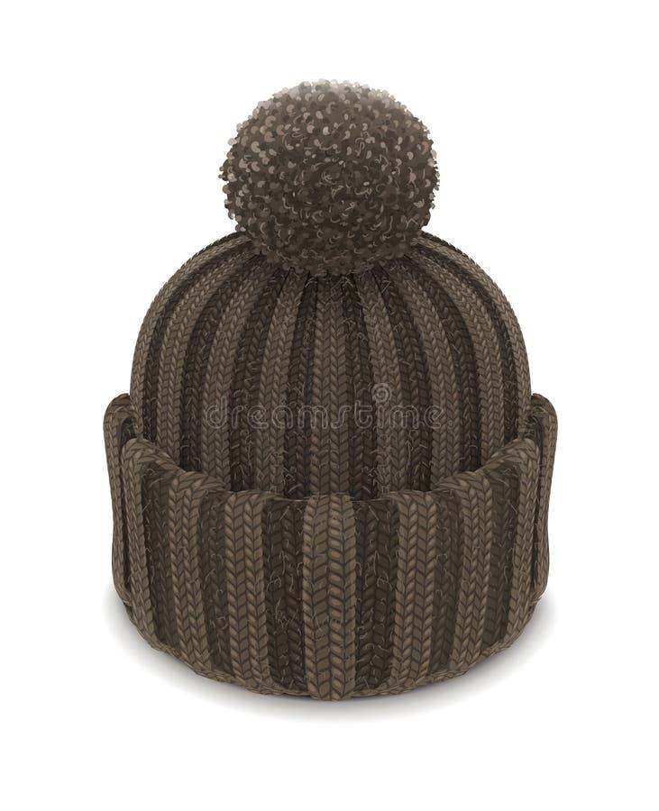 Chapéu feito malha inverno da bolha ilustração royalty free