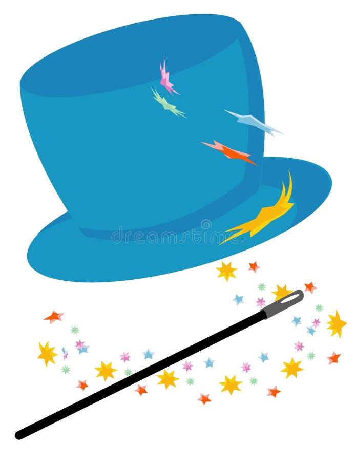 Chapéu mágico ilustração royalty free